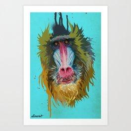 ANIMAL: Baboon Art Print