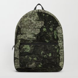 Birch Bark With Moss Backpack