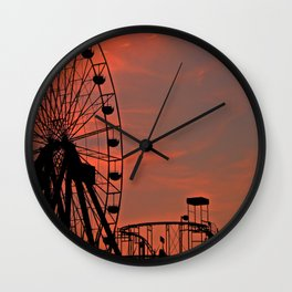 Sundown in Fun Town Wall Clock