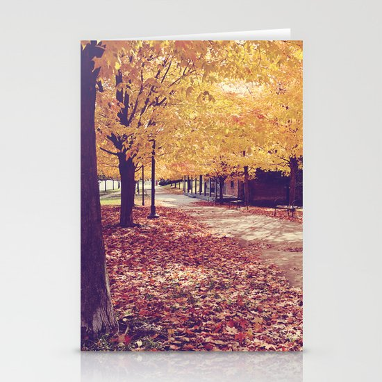 The Autumn Path Stationery Cards