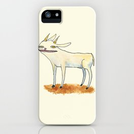 Goat with luscious lips. iPhone Case