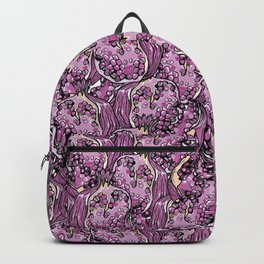 Pomegranate violet fresh seamless pattern! Backpack