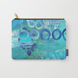 Blue Heaven Abstract Art Collage Carry-All Pouch