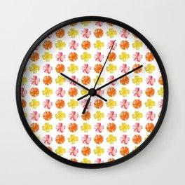 Flower Pattern #1 Wall Clock