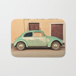 Vintage Beetle (Color) Bath Mat