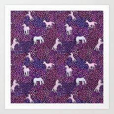 The White Unicorns Art Print