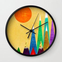 Peaks XIX Wall Clock
