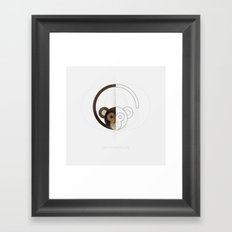 HALF (monkey) LIFE Framed Art Print