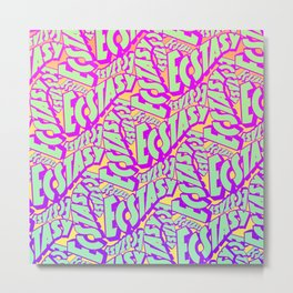 'Ecstacy' 70's Psych Poster Fade Pattern Metal Print
