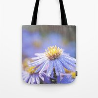 biology Tote Bags featuring Blue Aster in LOVE I by UtArt