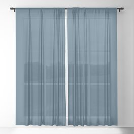 Sherwin Williams Trending Colors of 2019 Endless Sea Blue SW 9150 Solid Color Sheer Curtain