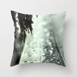 Dreamer on the Slippery Slope Throw Pillow
