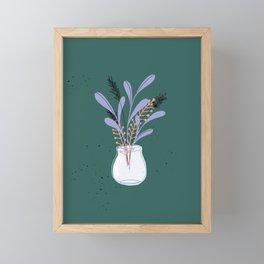 Whimsical Nature Bouquet Framed Mini Art Print