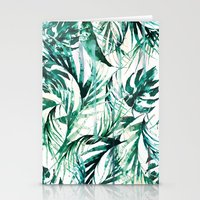 paradise Stationery Cards featuring Green Tropical paradise  by Nikkistrange