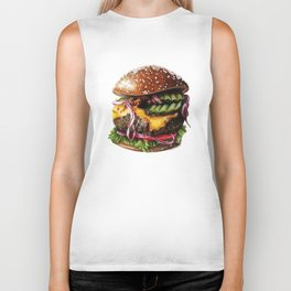 Cheeseburger Biker Tank