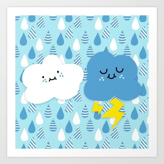 Fair Weather Friends Art Print