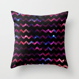 Galaxy Chevron Throw Pillow