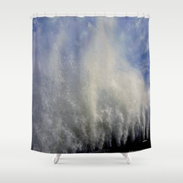 When Sandy Made Waves in Chicago #3 (Chicago Waves Collection) Shower Curtain