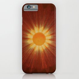 Celestial Red Sun Tapestry Astronomical Atlas portrait painting by Joseph Spoor iPhone Case