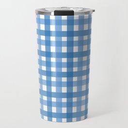 Blue Picnic Cloth Pattern Travel Mug