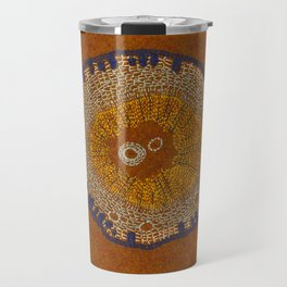 Growing - ginkgo - plant cell embroidery Travel Mug