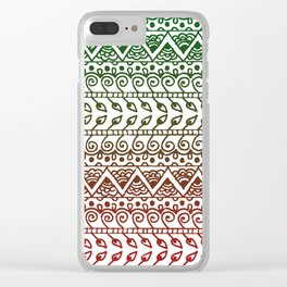 Holiday Henna Pattern Clear iPhone Case