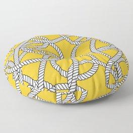 Nautical Yellow Rope Pattern Repeat Floor Pillow