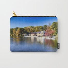 Boathouse on Lake Carnegie with Autumn Foliage Carry-All Pouch