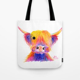Scottish Highland Cow ' HOOTIE ' by Shirley MacArthur Tote Bag