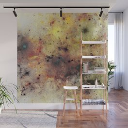 Into The Unknown - Abstract, rustic space style painting Wall Mural