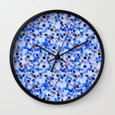 Blue Spots Wall Clock