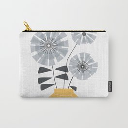 Midcentury Floral #society6 #decor #floral Carry-All Pouch