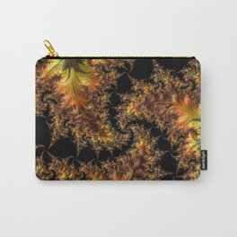 Autumn Leaves yellow brown orange Fractal Carry-All Pouch