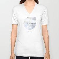 libra V-neck T-shirts featuring Libra by bialakura