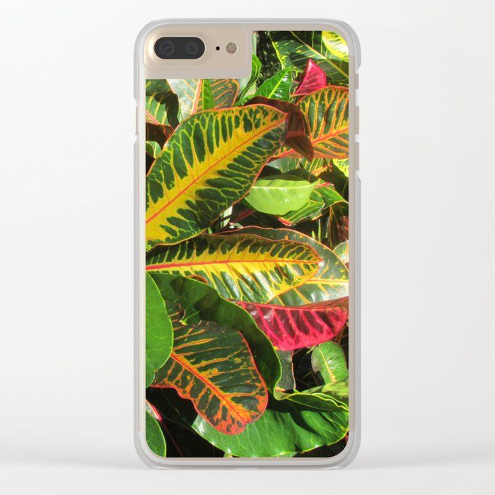 Beautiful Croton Clear iPhone Case