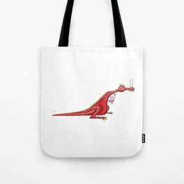 Dragon with flowers Tote Bag