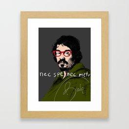 nec spe nec metu Framed Art Print