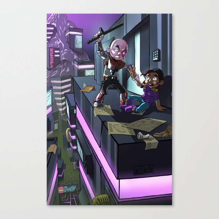 Cyborg Brutality Issues Canvas Print