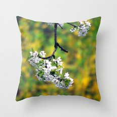 cherry branch. Throw Pillow
