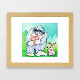 The Bigfoot and The Jackalope Framed Art Print