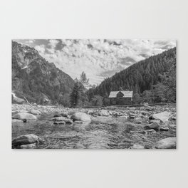 Cabin on the River Canvas Print