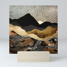 Copper and Gold Mountains Mini Art Print
