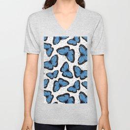 Blue morpho butterflies Unisex V-Neck