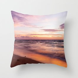 Early Morning Shades of Pink Throw Pillow