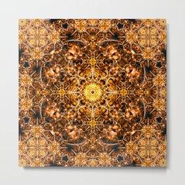Molten Prism Mandala Metal Print