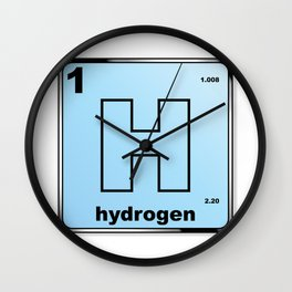 Hydrogen From The Periodic Table Wall Clock