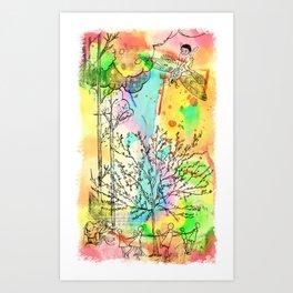 Rabbit Race Art Print