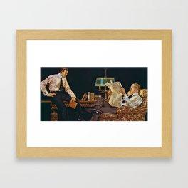 12,000pixel-500dpi - Joseph Christian Leyendecker - Newspaper - Digital Remastered Edition Framed Art Print