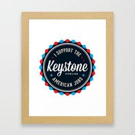 Keystone Pipeline Framed Art Print