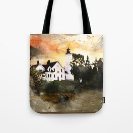 Pt. Iroquois Lighthouse Tote Bag